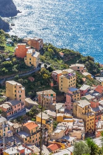 Riomaggiore, village des Cinque Terre, Italie