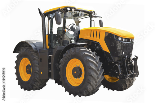 Agricultural tractor isolated on a white background