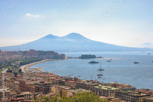 Cityscape of Naples and its gulf
