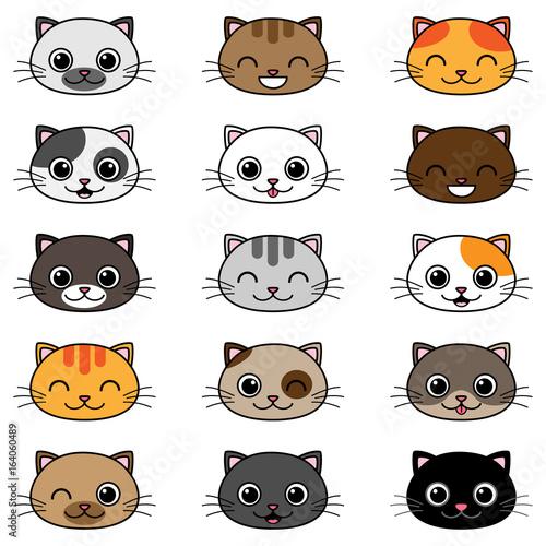 Vector cartoon cats - 164060489