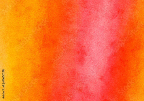 Orange and Red Watercolor Painted Paper Texture