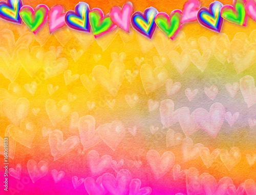 Watercolour Love Heart Background