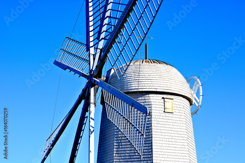 Dutch windmill closeup view Poster