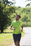 Young man running in the park