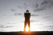 Silhouette of man in hoody - 164079803