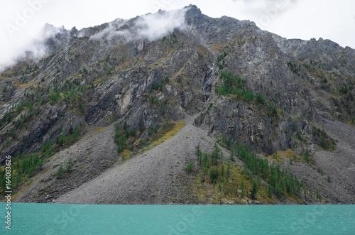 Mountain landscape. Shavlinsky lake in the Altai Republic.