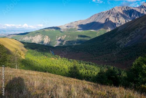 Mountain landscape in the Republic of Altai.