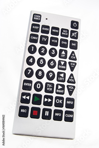 Portal to idiocy. TV remote control unit. Isolated. - 164084462
