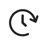 Clock tome vector icon. Timer 24 hours sign illustration. - 164091630