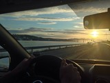 driving in Norway midnight sun