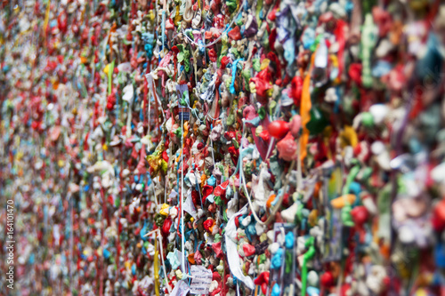 The Market Theater Gum Wall is a brick wall covered in used chewing gum, in an alleyway in downtown Seattle.