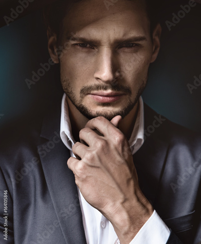 Portrait of a handsome, thoughtdul businessman