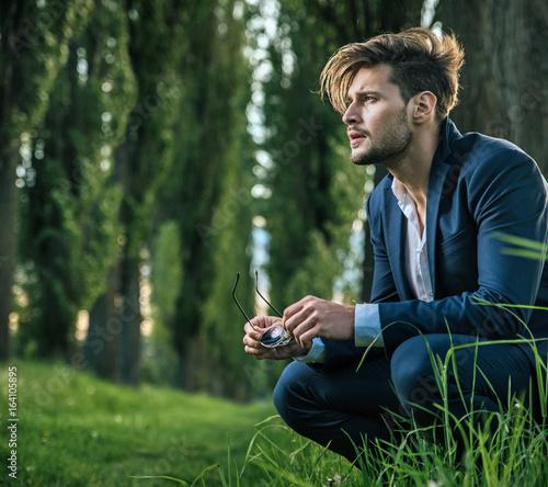 Foto op Aluminium Artist KB Young, calm man enjoying the summer time