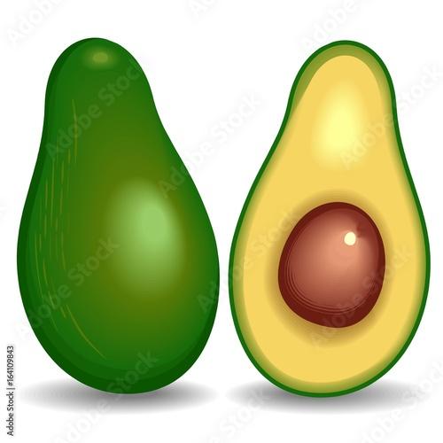 Deurstickers Draw Avocado