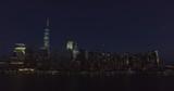 Nightfall over Manhattan,amazing view from the cruise ship - 164114201