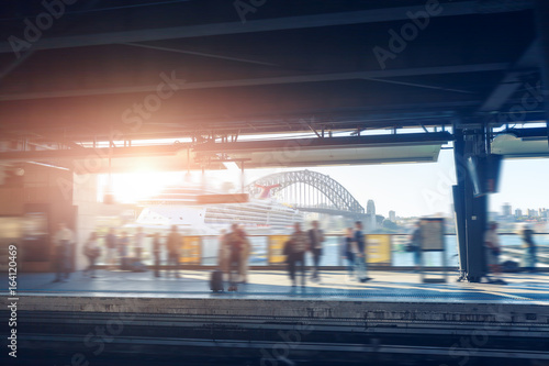 Sydney subway platform Poster