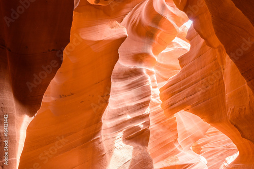 Lower Antelope Canyon - located on Navajo land near Page, Arizona, USA - beautiful colored rock formation in slot canyon in the American Southwest