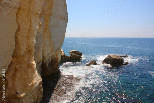 Natural caves of Rosh Hanikra on the border of Israel and Lebanon