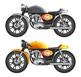 Cafe racer bike illustration vector design
