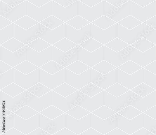 seamless geometric line grid vector hexagon pattern - 164140436