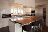 Modern kitchen in luxury apartment.