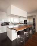 Modern kitchen in luxury apartment. - 164143055