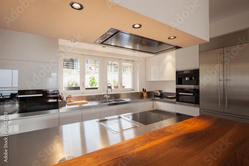Closeup modern kitchen in luxury flat - 164143210