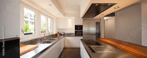 Closeup modern kitchen in luxury flat - 164143293