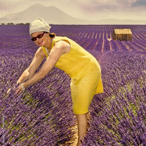 Woman in lavender field © Edler von Rabenstein
