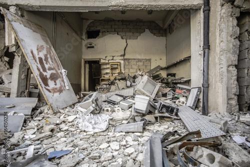 ville détruite Alep syrie Poster