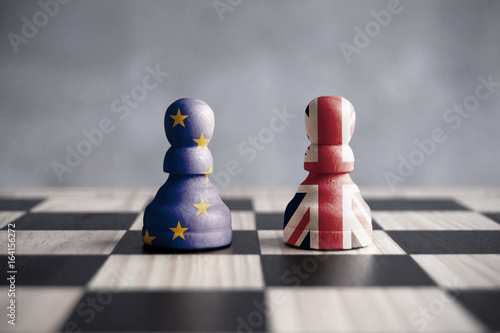 Poster Brexit chess concept