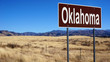 Oklahoma brown road sign