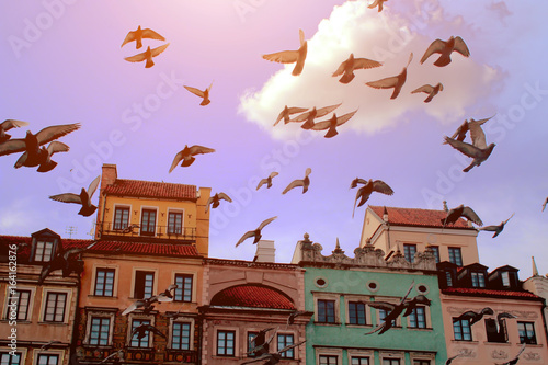 The old town in Warsaw - 164162876