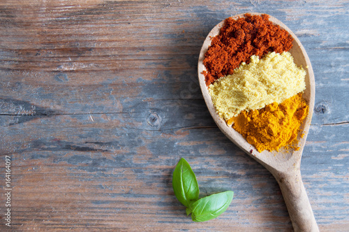 Spice herb seasoning background