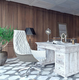 Classic and modern home office design 3D Rendering