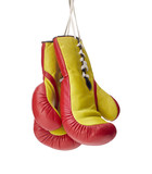 Die Boxhandschuhe an den Nagel hängen - 164173231