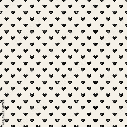 Cute pattern for kids, girls and boys. Creative vector background is made up of hearts and flowers. It can be used to create prints, packaging, invitations, simple designs. Holiday packages.