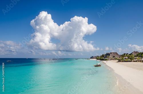 Foto op Aluminium Zanzibar Nungwi Beach on Zanzibar