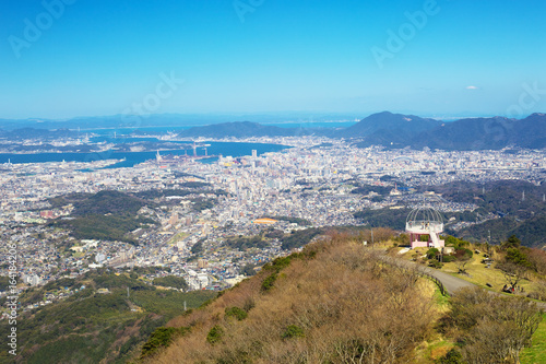 View of Kitakyushu City from Mt. Sarakura