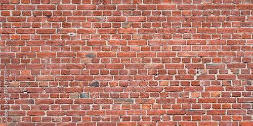 Fotobehang Baksteen muur Rote Mauer aus Backstein als Hintergrund