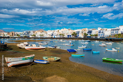 Foto op Canvas Canarische Eilanden Harbor of Arrecife, Lanzarote, Canary Islands, Spain
