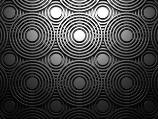 Dark Abstract Round Design Background © VERSUSstudio