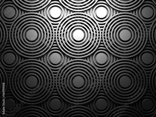 Dark Abstract Round Design Background