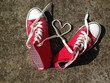 love heart shape from laces baseball sneakers young love or same sex love