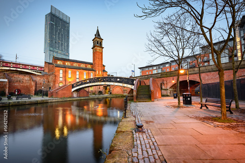 Bridge water canal Manchester England