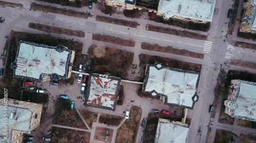 Top view, old district, russia, saint petersburg