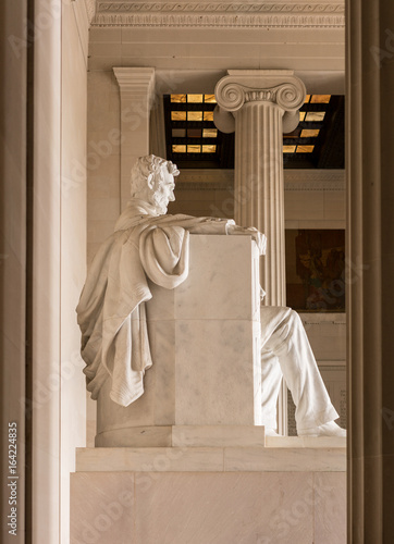 Side view of President Lincoln statue Poster