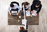 Business People Handshake In Office - 164226669