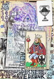 Esoteric graffiti and manuscipts with collages,symbols,draws and scraps - 164235458