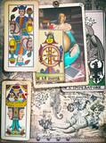 Esoteric graffiti and manuscipts with collages,symbols,draws and scraps - 164235667
